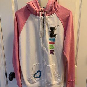 Disney Tink zip up hoodie